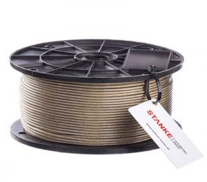 Brass Coated Steel Wire Rope In PVC